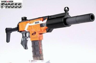 Without the loss of velocity from bouncing in the barrel the nitron might  be able to get some impressive ranges with a volt mod.