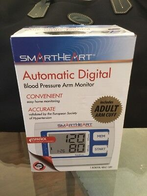 Blood Pressure Arm Monitor - SmartHeart  - 01-539 - Automatic Digital New In Box
