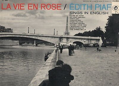 Edith Piaf . La vie en rose . Edith sings in English . 1956 Columbia LP