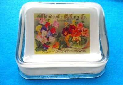 Mandeville & King seed box Brunhoff antique advertising change receiver tray