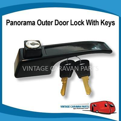 Caravan PANORAMA DOOR LOCK OUTER Vintage Viscount, Franklin, Millard, Golf D0126