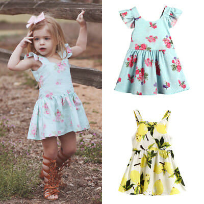 AU Toddelr Kids Baby Girls Matching Floral Jumpsuit Romper Dress Outfits