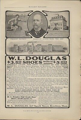 W L Douglas Mens Shoes 1904 Vintage Ad