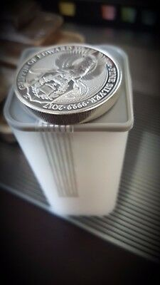 2017 Great Britain Queen's Beasts The Griffin - 2 oz silver coin  full tube