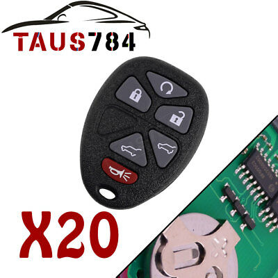 20 Replacement Keyless Entry Remote Control Car Key Fob  for OUC60270 15913427