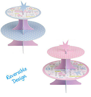 Tiny Feet Baby Shower Cupcake Stand Gender Neutral