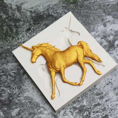Unicorn Horse Silicone Molds Fondant Chocolate Sugarcraft Mould Cake Decor Tools