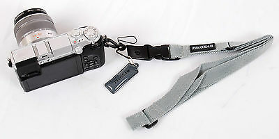 Camera Wrist & Neck Flat Strap + Screen Cleaner for Canon Nikon Sony Olympus