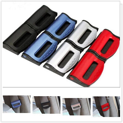 1 PAIR Universal Car Safety Seat Belt Buckle Alarm Stopper Clip ...