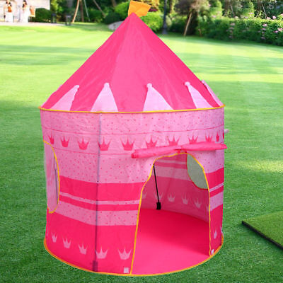 Portable Pop Up Play Tent Kids Girl Princess Castle Outdoor Play House Pink & PORTABLE PINK Folding Play Kids Pop Up Tent Girl Princess Castle ...