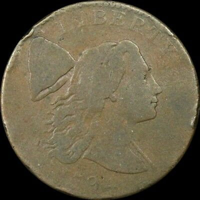 1794 Liberty Cap Flowing Hair Copper Large Cent S-28 R-2