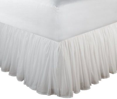 Greenland Home Fashions Cotton voile Bed gonna bianca, 45,7 cm, Cotone, (N1B)