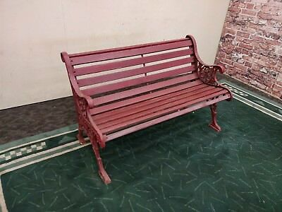 Park Bench Cast Iron Garden Bench Timber And Metal Outdoor Bench Seat