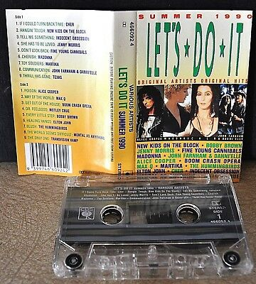 SUMMER 1990 -LET'S DO IT-  Madonna,Cher,Elton,Martika,Texas        Cassette Tape