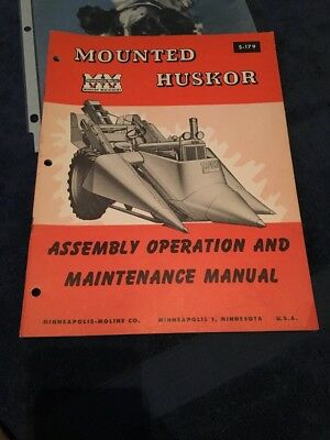 Minneapolis-Moline Mounted Huskor Assembly Operation and Maintenance Manual