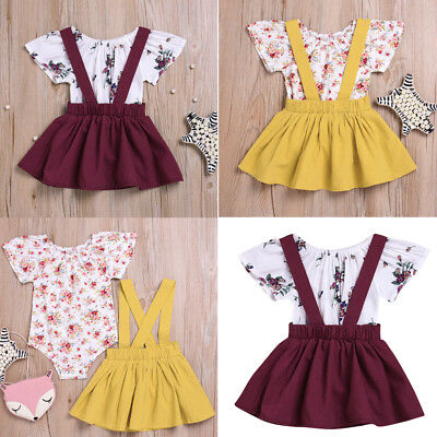 AU Newborn Toddler Baby Girls Romper Playsuit Tops+tutu Skirt Outfit Set Dress
