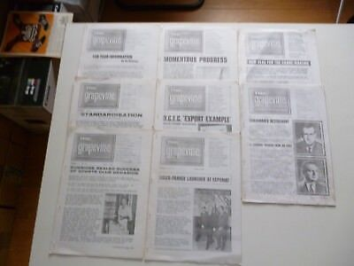 8 THE GRAPEVINE NEWSPAPER OF STEEL GROUP OF COMPANIES COLES 1960s *AS PICTURES*