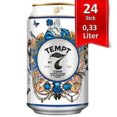Tempt Cider Seven Sins Elderflower & Blueberry 4.5% - 24x0,33l