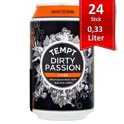 Tempt Cider Dirty Passion Passionfruit 4.5% - 24x0,33l