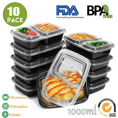 10/20X Freezer Microwavable Meal Prep Food Storage Containers Takeway Bento Box