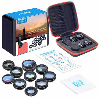 10-in-1 Set Universal Lens Fisheye Wide-Angle Mobile Phones Easily Change to SLR
