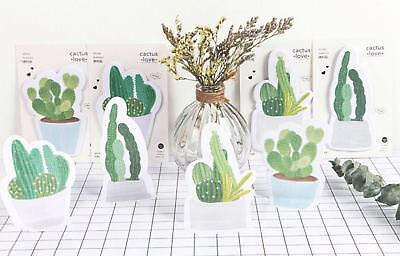 Post it notes Sticky Notes Pad cactus plants green memos