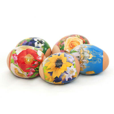 NEW Russian Easter Egg Shrinking Wraps/Sleeve Egg Stickers Bright Flowers
