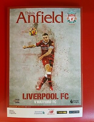 Liverpool v Watford programme 17.10.2018 brand new
