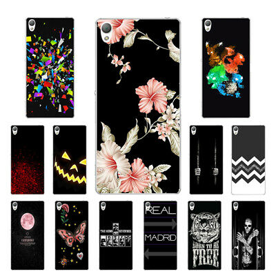 "5.2"" Soft TPU Silicone Case For Sony Xperia Z3 Phone Back Cover Skin Black"