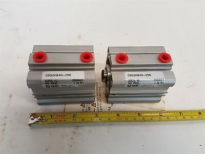 SMC CDQ2KB40-25D Double Action Pneumatic Compact Cylinder 1.0 MPa - Qty 2 New