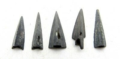 Lot Of 5 Ancient Scythian Bronze Arrow Heads - Ancient Historical Artifacts C166