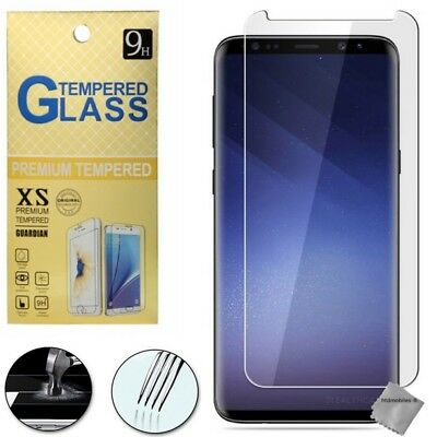 Film de protection vitre verre trempe transparent pour Samsung Galaxy S9 Plus