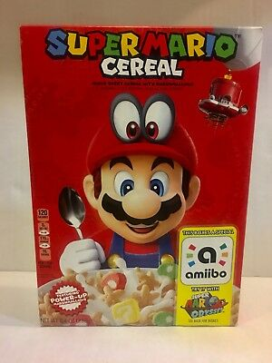 NEW Super Mario Odyssey Cereal Limited Edition Nintendo Amiibo