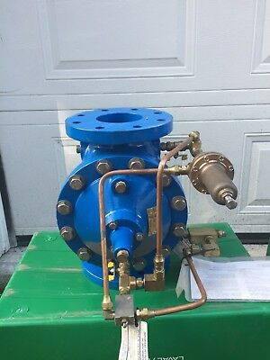 "4"" 4 Inch Pressure Reducing & Back-Flow Valve, Municipal/Industrial, 250 PSI"