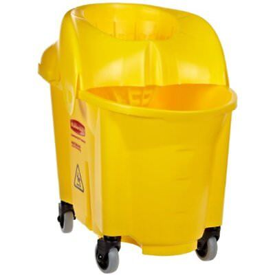 Buckets Rubbermaid Commercial WaveBrake Mop Bucket Sieve Wringer Combo, Yellow,