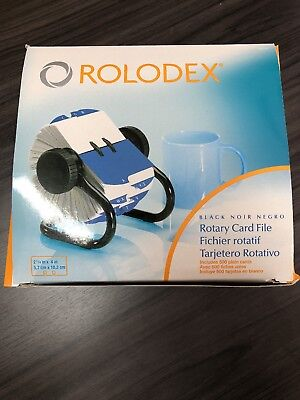 NEW Rolodex Open Rotary Card File - 500 2-1/4 x 4 Inch Cards, A-Z Indexed Tabs