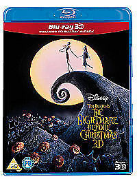 The Nightmare Before Christmas (3D Blu-ray, 2011) New & Sealed