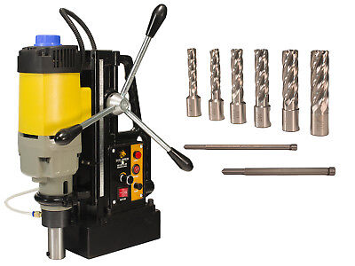 "Steel Dragon Tools® MD50 Magnetic Drill Press with 7pc 2"" Small HSS Cutter Kit"