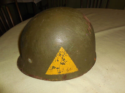 WWII or post US Army M1 Helmet Liner Armored Division??