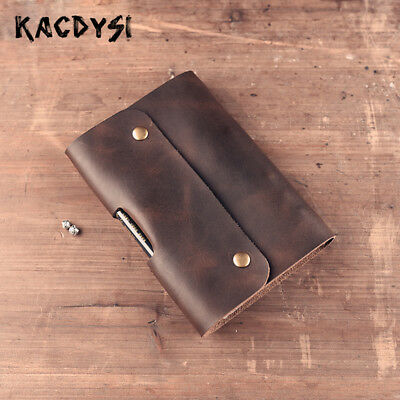 Original Vintage Leather Blank Diary Journal Book A6 Notepad Cover Notebook Men