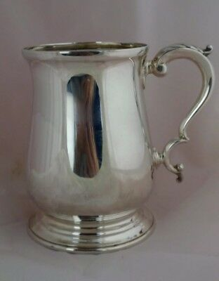 Solid Sterling Silver 310 Gram One Pint British Tankard Sheffield Atkin Bro 1899