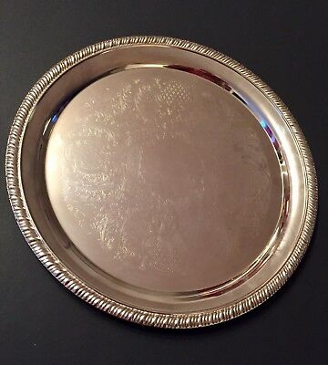 Vintage Silver Plated Serving Tray From The 60's! Nice Condition!