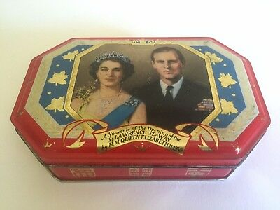 Vintage Mid Century 1959 Queen Elizabeth Souvenir Hobner & Co. English Candy Tin