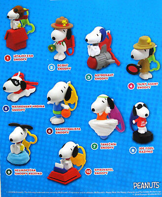 SNOOPY  2018 alle 10 Snoopy Satz Happy Meal McDonald´s OVP Peanuts