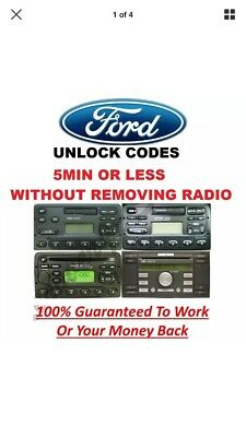 Ford M or V Radio Unlock Code Stereo Focus Fiesta Escort Mondeo - 10% To Charity
