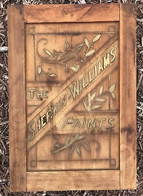 RARE Original 1890s Sherwin Williams Paint Wood Carved Trade Sign Gecko Antique