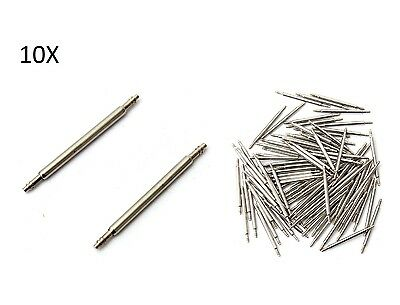 10 Pins 18mm Replacement for Straps Watches Pins Steel Watch Repair