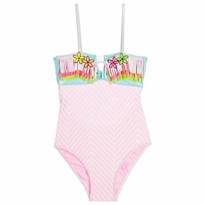 ac1ac0c157 PATE DE SABLE Girls Pink Fringed Swimsuit 4 Years - EUR 33