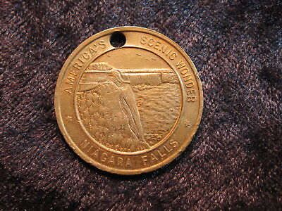 "1 old souvenir Good Luck token coin Niagra Falls ""horse shoe"" FREE S&H"