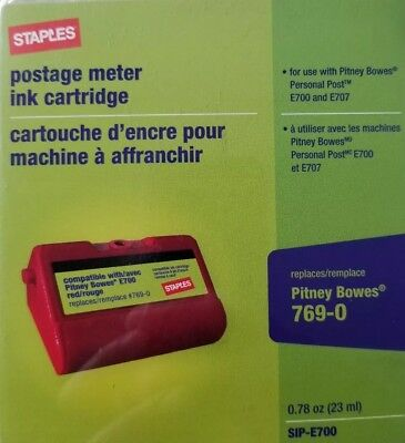 Staples E700 Replacement Postage Meter Ink Cartridge for Pitney Bowes 769-0